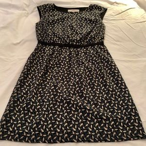 Loft leaf print dress
